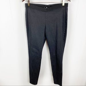 Eileen Fisher•Black pull on elastic waist jeggings